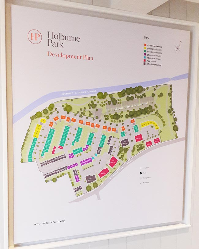 printed development site plan bath
